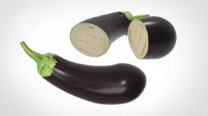 3D aubergine realistic model