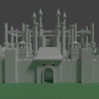 fantasy medieval castle building 3D model