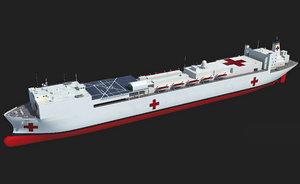 usns mercy t-ah-19 ship 3d 3ds
