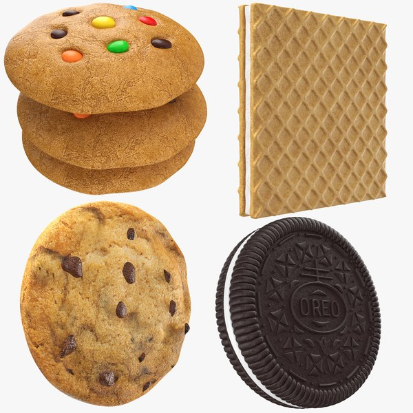 3D cookies modeled
