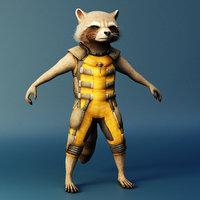 rocket raccoon 3D model