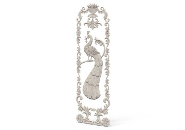 3D model relief peacock
