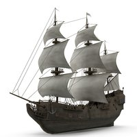 3D sailboat galleon model