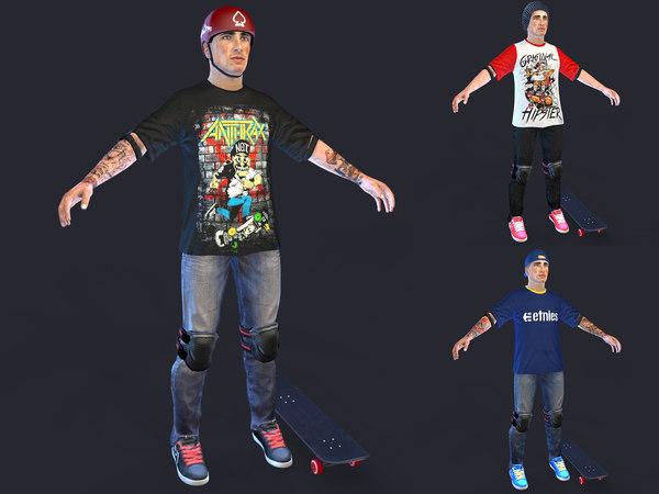 3D skater 2019 model