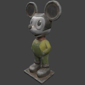 3D soviet mouse statue polys model