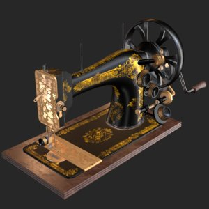 old antique sewing machine model