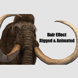 3D mammoth elephant tusk