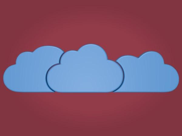 3D cloud cartoon toon model