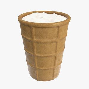 ice cream waffle 3D model