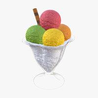 ice cream ball 3D model
