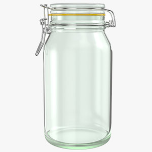 3D model glass jar
