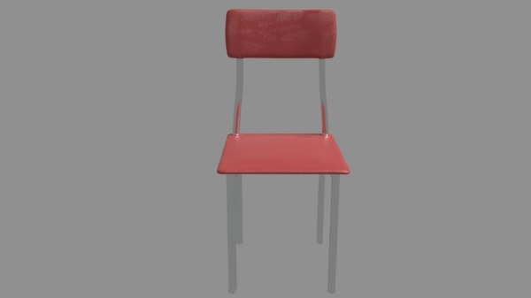chair red blue 3D model