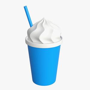 3D model ice cream mockup