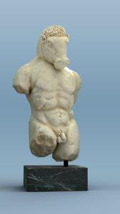 3D minotaur statue