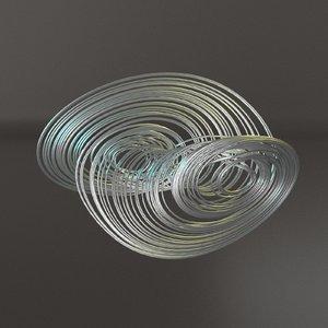 coullet strange attractor 3D model