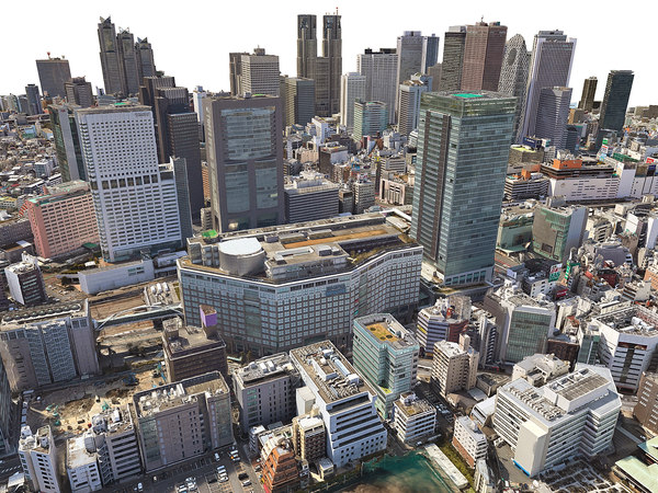 3D model tokio city hd