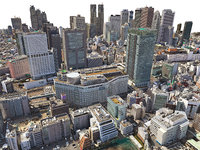 3D model tokio city hd