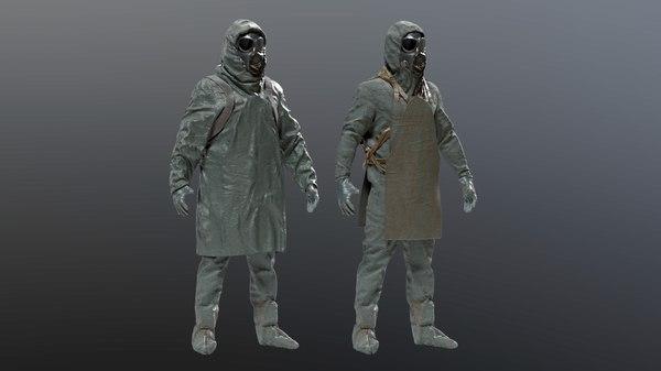 suit hazmat liquidator 3D model