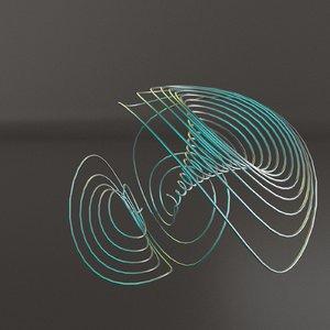 strange attractor 3D model