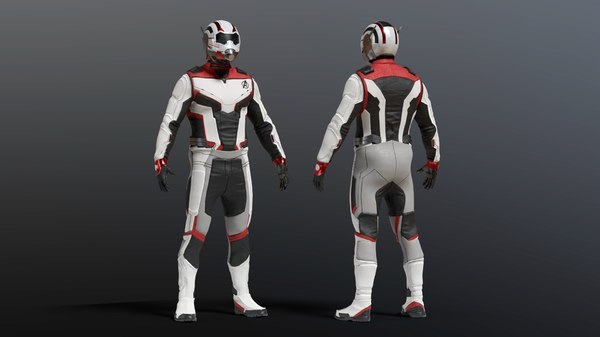 avengers quantum suit 3D model