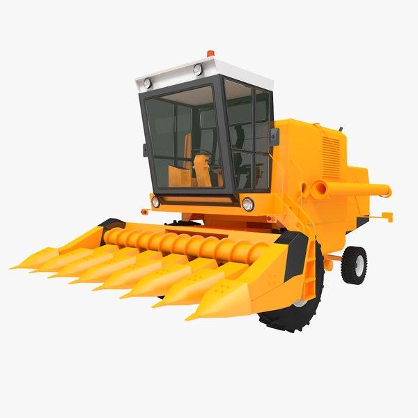 corn combine harvester model