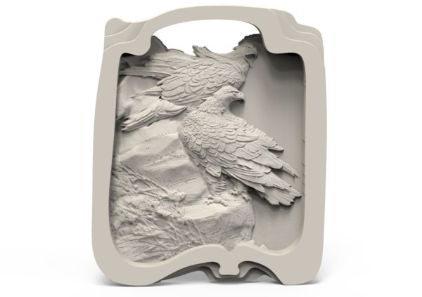 relief eagle 3D