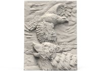Eagle wolf relief 10