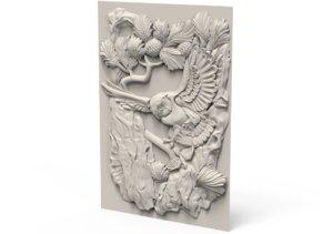 3D relief owl
