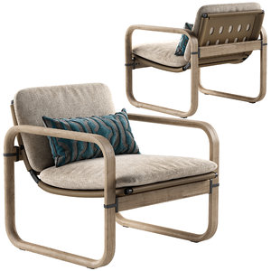 3D giorgetti loop armchair model