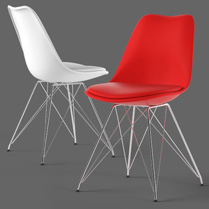3D eames dinning chair seat model