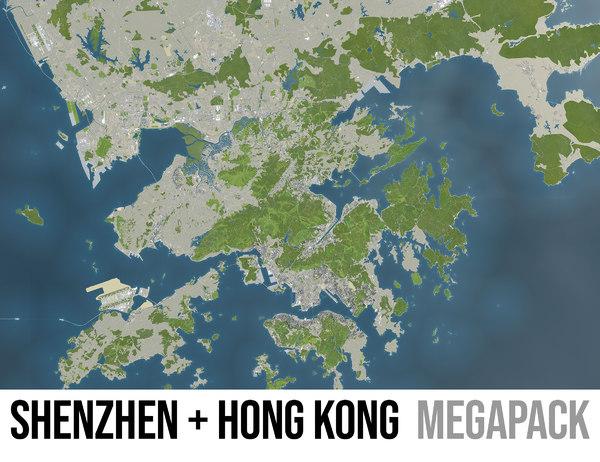 3D city shenzhen hong kong