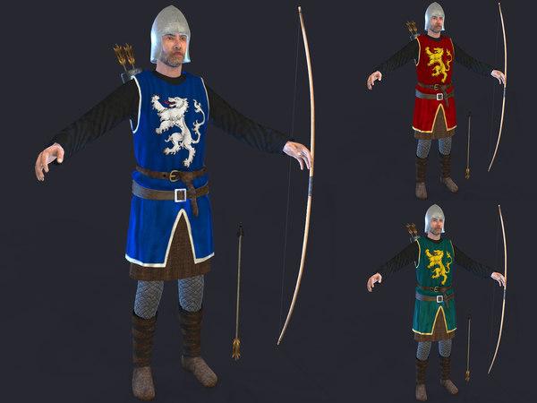 medieval archer 3D