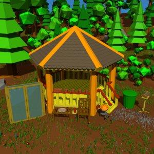 garden furnishing set 3D