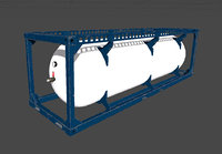 compressed gas tank cargo 3D model