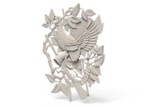 bird relief 3D