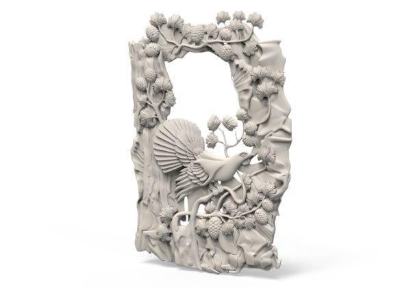 bird relief 3D model