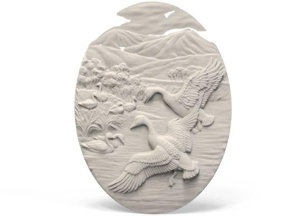 bird relief model