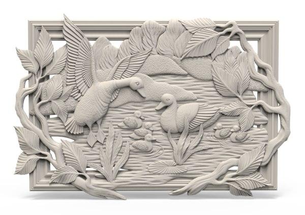 3D model relief duck
