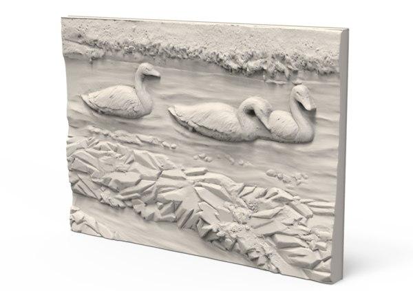 relief duck 3D model