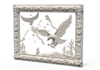 3D relief eagles