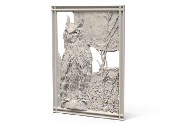 relief owl 3D model
