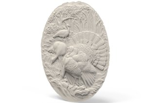 3D relief peacock model