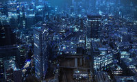 3D tokyo city night