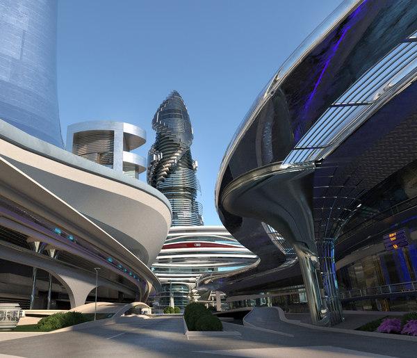 city block buildings 1 3D model