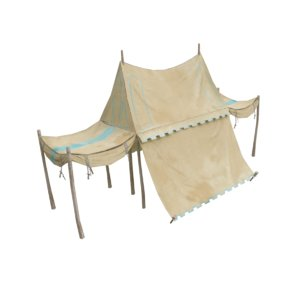3D old tent model