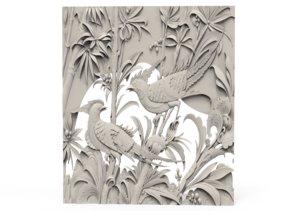 relief parrots 3D