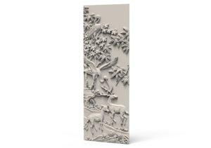 relief stork deer 3D model