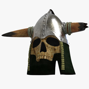 3D honor helmet skull mask model