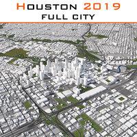 2019 houston city 3D model