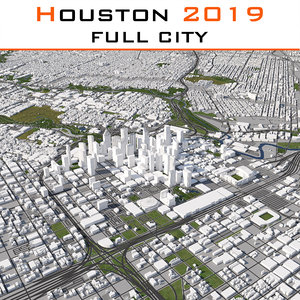 2019 houston city 3D model